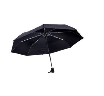 Personalised Auto 3-Fold Umbrella - Black